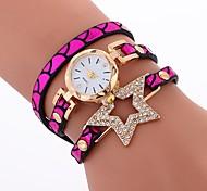 preiswerte -Damen Armband-Uhr Chinesisch Imitation Diamant / Armbanduhren für den Alltag PU Band Kreativ / Modisch Schwarz / Blau / Silber