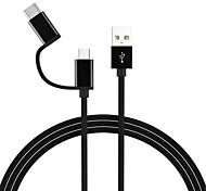 Недорогие -Type-C / Micro USB Адаптер USB-кабеля Все в одном Кабель Назначение Samsung / Huawei / LG 100cm сплав цинка / TPE