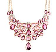 Недорогие -Жен. Крупногабаритные Заявление ожерелья  -  Секси Крупногабаритные Геометрической формы Свисающие Розовый 50+8.3cm Ожерелье Назначение