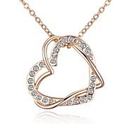 preiswerte -Damen Anhängerketten - Herz Süß, Modisch, Elegant Gold 40+5 cm Modische Halsketten 1pc Für Alltag, Ausgehen
