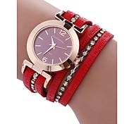 cheap -Women's Bracelet Watch Chinese Chronograph PU Band Bangle Red