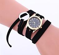 Недорогие -Жен. Модные часы / Нарядные часы Китайский Секундомер Кожа Группа На каждый день / Элегантный стиль Черный / Белый / Розовый