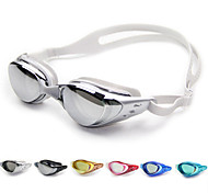 cheap -Swimming Goggles Anti-Fog / Adjustable Size / Waterproof Silica Gel PC White / Black / Dark Blue Green / Pink / Black