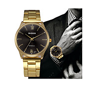 cheap -Men's Dress Watch Chinese Chronograph Stainless Steel Band Casual Gold