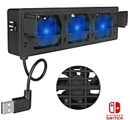 abordables -DOBE TNS-1719 Ventiladores Para Interruptor de Nintendo,ABS Ventiladores USB 2.0
