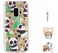 cheap -Case For Samsung Galaxy S9 Plus / S9 Pattern Back Cover Panda Soft TPU for S9 / S9 Plus