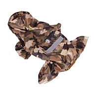 cheap -Dogs / Cats / Pets Rain Coat / Holiday Decorations Dog Clothes Solid Colored / Camouflage Color Red / Blue / Camouflage Color Acrylic