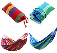 cheap -Camping Hammock Outdoor Canvas leather for Camping / Travel - 2 person Dark Blue / Fuchsia