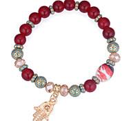 cheap -Strand Bracelet - European, Ethnic, Fashion Bracelet Coffee / Red / Blue Hamsa Hand For Daily