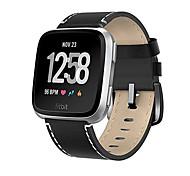 Недорогие -Ремешок для часов для Fitbit Versa Fitbit Современная застежка Натуральная кожа Повязка на запястье