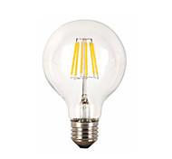 baratos -1pç 6W 560lm E26 / E27 Lâmpadas de Filamento de LED G95 6 Contas LED COB Decorativa Branco Quente