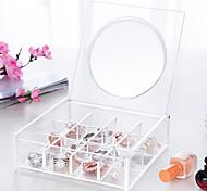 Недорогие -пластик Прямоугольная Новый дизайн Главная организация, 1шт Коробки для хранения / Хранение косметики / Органайзеры для стола