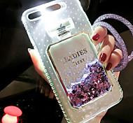 Недорогие -Кейс для Назначение Apple iPhone 6s / Кейс для iPhone 5 Движущаяся жидкость / Мигающая LED подсветка Кейс на заднюю панель Сияние и блеск