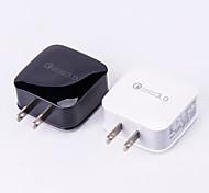 Недорогие -Док-зарядное устройство Телефон USB-зарядное устройство Стандарт США USB QC 3.0 1 USB порт 3A DC 9V DC 12V DC 5V