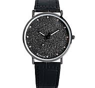 cheap -Women's Quartz Wrist Watch Chinese Chronograph / Large Dial Leather Band Fashion / Bangle Black