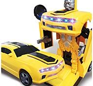 Недорогие -Игрушечные машинки Автомобиль / Робот трансформируемый / Творчество / Музыка и свет Пластиковый корпус Детские Подарок 1 pcs