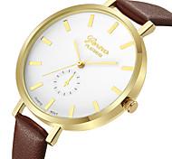 Недорогие -Geneva Жен. Нарядные часы / Наручные часы Китайский Новый дизайн / Повседневные часы / Cool Кожа Группа На каждый день / Мода Коричневый