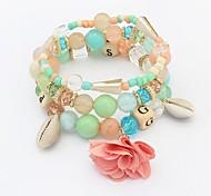 cheap -Women's Synthetic Tanzanite Strand Bracelet - Shell Sweet, Fashion Bracelet Rainbow / Red / Blue For Daily / School