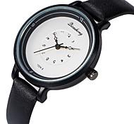 Недорогие -Жен. Наручные часы Повседневные часы / Милый PU Группа Мода / Элегантный стиль Черный / Белый / Коричневый