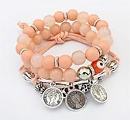 cheap -Women's Synthetic Tanzanite Layered / Stack Strand Bracelet - Fashion, Multi Layer Bracelet Rainbow / Blue / Pink For Ceremony / School
