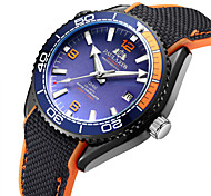 cheap -Men's Mechanical Watch Automatic self-winding Rubber Black 50 m Water Resistant / Waterproof Calendar / date / day Noctilucent Analog Fashion Colorful - Orange red Blue Pink
