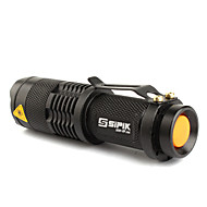 SK68 LED Flashlights / Torch LED 200 lm 1 Mode Cree XR-E Q5 Zoomable Adjustable Focus Rechargeable Super Light Compact Size Small Size