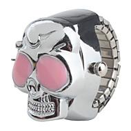 cheap Watch Deals-Women's Quartz Ring Watch Japanese Casual Watch Alloy Band Skull Silver