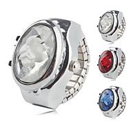 Dames Ringhorloge Modieus horloge Kwarts Legering Band Bloem Glitter Zilver