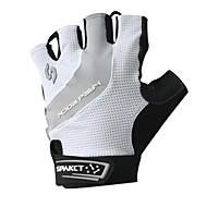 billiga -SPAKCT Cykelhandskar Andningsfunktion Anti-halk Svettavvisande Skyddande Halvt finger Aktivitet/Sport Handskar Bergscykling Vit för Vuxna Utomhus
