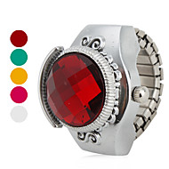 cheap Ring Watches-Women's Ring Watch Japanese Quartz Casual Watch Alloy Band Vintage Silver - Rose Red Green One Year Battery Life / SSUO SR626SW