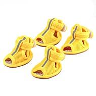Недорогие Бижутерия и аксессуары для собак-Собака Ботинки и сапоги На каждый день Однотонный Желтый Красный Синий Розовый Для домашних животных