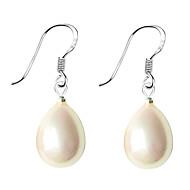 Dame Perle Dråpeøreringer Perle Sølv Imitert Perle øredobber Dråpe damer Smykker Hvit / Svart / Rosa Til Daglig / Skall / Rosa perle / Sorte perle