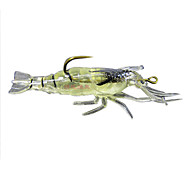 """olcso Fishing & Hunting-4 db Puha csali Mamac za ribe Garnélarák Puha csali g / Uncia, 40mm mm / 1-5/8"""" hüvelyk, Szilícium Tengeri halászat Folyóvíz horgászat"""
