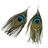Women's Drop Earrings Folk Style Costume Jewelry Bohemian Fashion Feather Fabric Alloy Feather Peacock Jewelry For Party