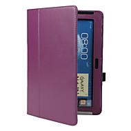 billige Etuier til Samsung-Etui Til Samsung Galaxy Samsung Galaxy Note Med stativ Flip Fuldt etui Helfarve PU Læder for Note 10.1 Tab 2 10.1