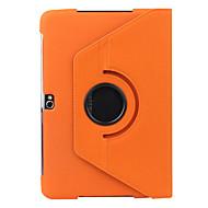 お買い得  携帯電話ケース-ケース 用途 Samsung Galaxy Samsung Galaxy Note スタンド付き フリップ 360°ローテーション フルボディーケース 純色 PUレザー のために Note 10.1