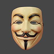abordables Artículos para Celebración-V for Vendetta Máscara Hombre Mujer Navidad Halloween Carnaval Festival / Celebración Accesorios Beige Estampado