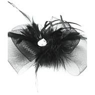 Mujer Pluma Tul Celada-Ocasión especial Tocados