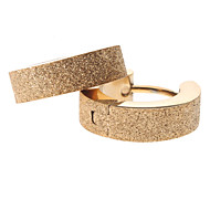 Недорогие $0.99 Модное ювелирное украшение-Жен. Серьги-кольца - Нержавеющая сталь Золотой Назначение Для вечеринок / Повседневные