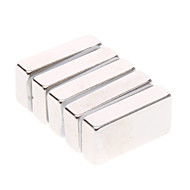 cheap Toys & Hobbies-Magnet Toys 5Pcs 20x10x5mm Magnet Toys / Super Strong Rare-Earth Magnets / Neodymium Magnet Executive Toys Puzzle Cube DIY ToysMagnetic