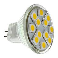 billige LED-spotlys-2W 160lm GU4(MR11) LED-spotlys MR11 12 LED Perler SMD 5050 Varm hvid 12V
