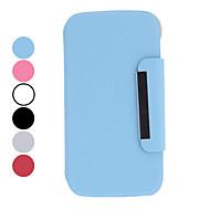 Для Кейс для  Samsung Galaxy со стендом / Флип / Поворот на 360° Кейс для Чехол Кейс для Один цвет Искусственная кожа Samsung S4