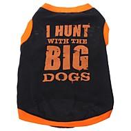 お買い得  -犬 Tシャツ 犬用ウェア 文字&番号 ブラック コットン コスチューム ペット用