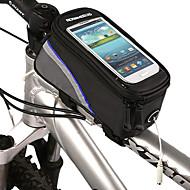 お買い得  -ROSWHEEL 自転車用バッグ自転車用フレームバッグ 携帯電話バッグ 防水 反射ストリップ 自転車用バッグ ポリエステル ポリ塩化ビニル サイクリングバッグ iPhone 5/5S iphone 4/10S iPhone 5 C 他の同様のサイズの携帯電話 サイクリング