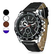 Pánské Vojenské hodinky Náramkové hodinky Křemenný Z umělé kůže Černá / Bílá / Hnědá Hodinky na běžné nošení Analogové Přívěšky - Hnědá Bílá / bílá Bílá v modrá