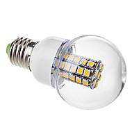 tanie Żarówki LED kulki-e26 / e27 żarówki kulkowe światłowodowe g60 47 smd 5050 530lm ciepłe białe 3000k ac 220-240v
