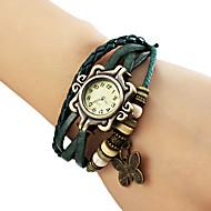 abordables Relojes Bohemios-Mujer Reloj Pulsera Reloj Casual PU Banda Mariposa / Bohemio / Moda Negro / Azul / Marrón / Un año / Jinli 377