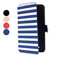 Для Кейс для  Samsung Galaxy Бумажник для карт / со стендом / Флип Кейс для Чехол Кейс для Полосы / волосы Искусственная кожа Samsung Mega