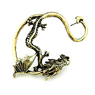 cheap -Men's Dragon Ear Cuff - Personalized Fashion European Silver Golden Earrings For Christmas Gifts Daily