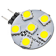 abordables LED e Iluminación-SENCART 1W 6500lm G4 Luces LED de Doble Pin 6 Cuentas LED SMD 5050 Blanco Natural 12V